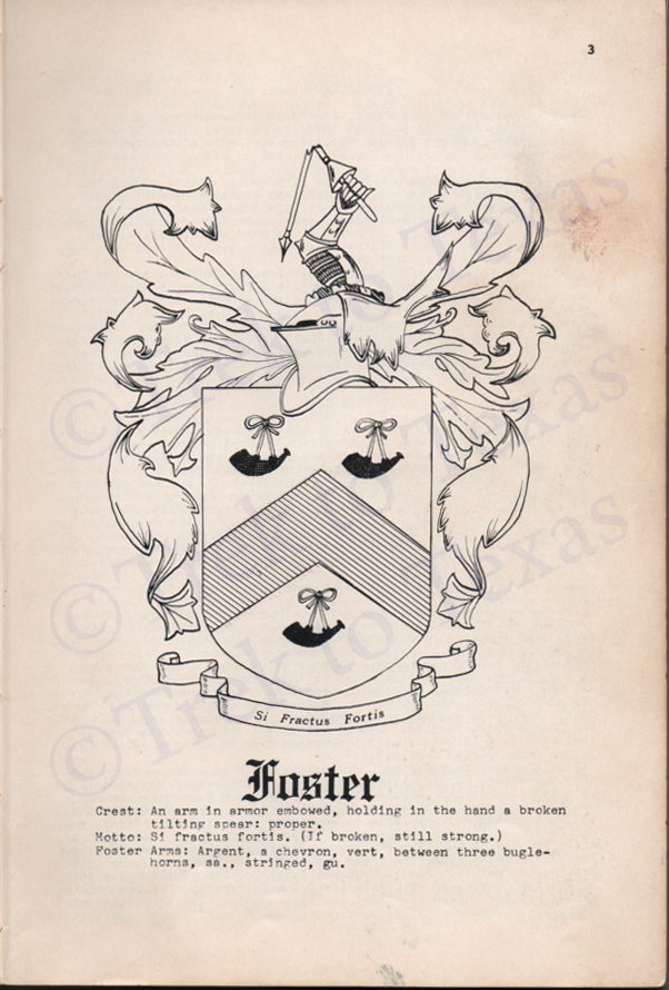 Foster Coat of Arms
